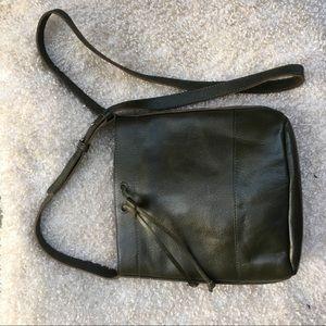 Vintage Dark Green Leather Purse
